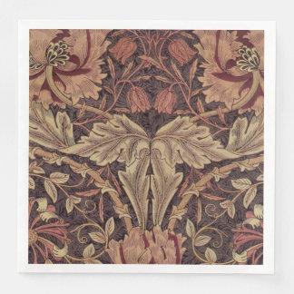 1876 Vintage William Morris Honeysuckle Paper Dinner Napkin