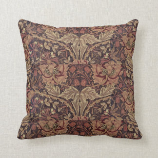 1876 Vintage William Morris Honeysuckle Throw Pillow