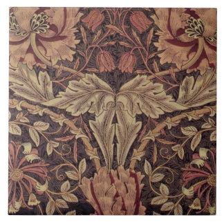 1876 Vintage William Morris Honeysuckle Tile