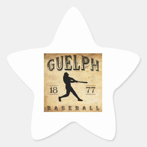 1877 Guelph Ontario Canada Baseball Star Stickers