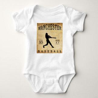 1877 Manchester New Hampshire Baseball Baby Bodysuit