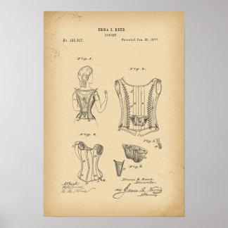 1877 Patent Corset Poster