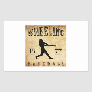 1877 Wheeling West Virginia Baseball Sticker