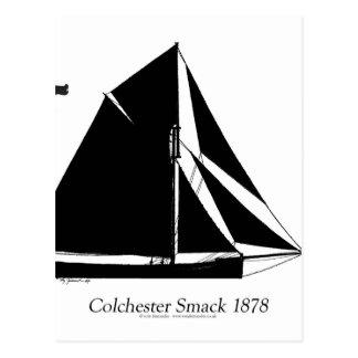 1878 Colchester Smack - tony fernandes Postcard