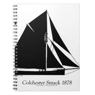 1878 Colchester Smack - tony fernandes Spiral Notebook