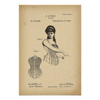 1878 Patent Corset Poster