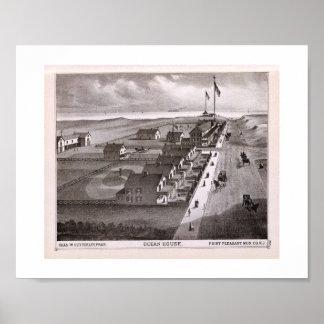 1878 REPRO Print Ocean House, Point Pleasant, NJ
