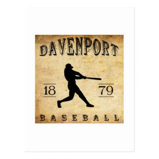 1879 Davenport Iowa Baseball Postcard