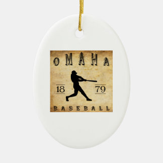1879 Omaha Nebraska Baseball Ceramic Oval Ornament