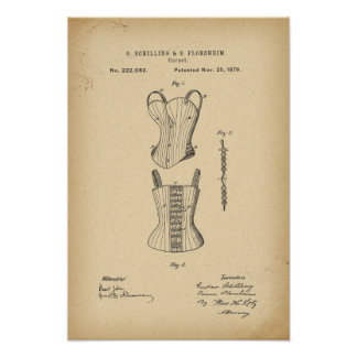 1879 Patent Corset Poster