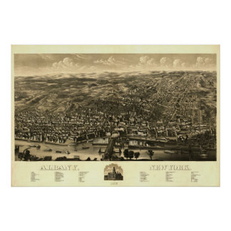 1879 Print: Albany, New York Poster