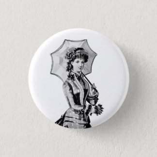 1879 Victorian Lady badge 1 Inch Round Button