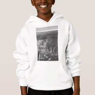 1879 Vintage Brooklyn Map Hoodie in Black & White