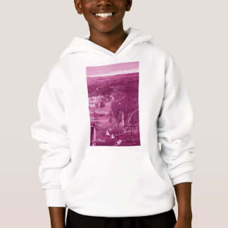 1879 Vintage Brooklyn Map Hoodie in Pink