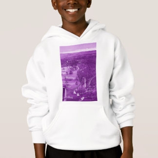 1879 Vintage Brooklyn Map Hoodie in Purple