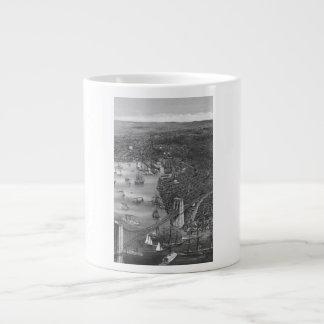 1879 Vintage Brooklyn Map Mug in Black & White