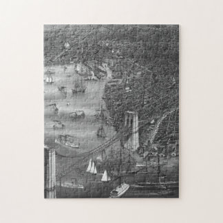 1879 Vintage Brooklyn Map Puzzle in Black & White