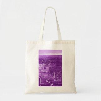 1879 Vintage Brooklyn Map Tote Bag in Purple