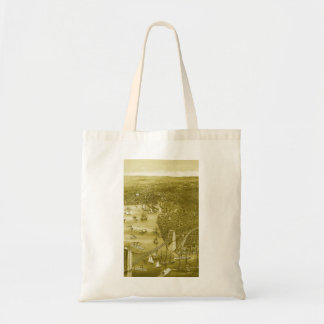 1879 Vintage Brooklyn Map Tote Bag in Yellow