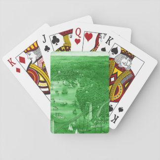 1879 Vintage Brooklyn Playing Cards in Green