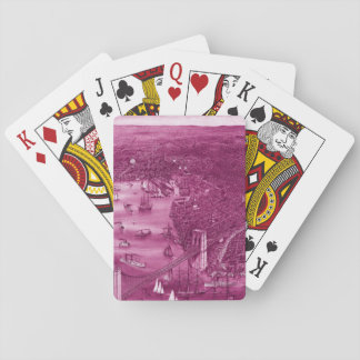 1879 Vintage Brooklyn Playing Cards in Pink