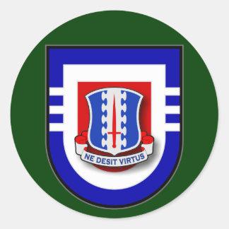 187th Infantry Regiment - 3d Battalion Flash Classic Round Sticker