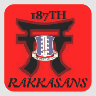 187TH Infantry Torri Design Stickers