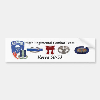 187th Regimental Combat Team Korea Bumper Sticker
