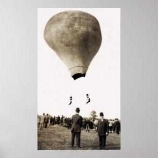 1880 Hot Air Balloon Acrobats Poster