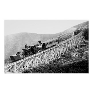 1880 Passengers trains at work Poster