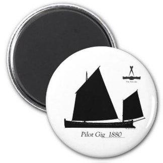 1880 Pilot Gig - tony fernandes 2 Inch Round Magnet