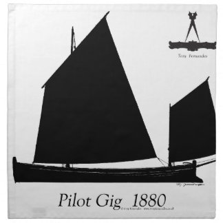 1880 Pilot Gig - tony fernandes Napkin