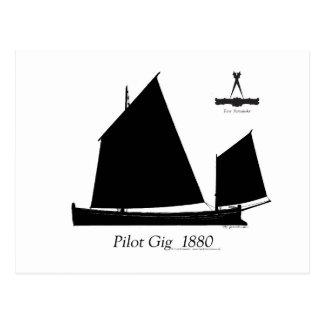 1880 Pilot Gig - tony fernandes Postcard