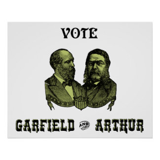 1880 Vote Garfield and Arthur, green Poster