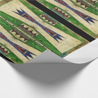 1880's Cheyenne Parfleche Design Wrapping Paper