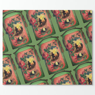 1880's Fireman Firefighter Artwork Wrapping Paper