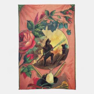 1880s Fireman Firefighter Towel Art
