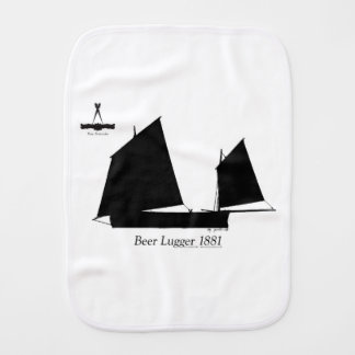 1881 Beer Lugger - tony fernandes Burp Cloth
