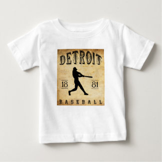 1881 Detroit Michigan Baseball Baby T-Shirt