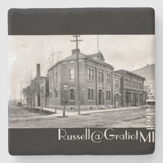 1881 Russell at Gratiot Detroit MI Stone Coaster