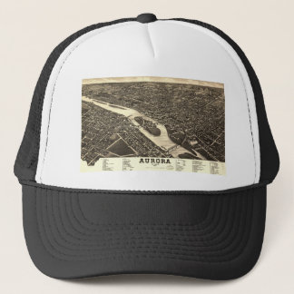 1882 Bird's Eye View Map of Aurora Illinois Trucker Hat