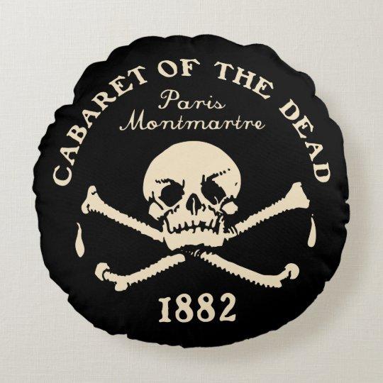 1882 Cabaret of the Dead - Paris Round Pillow