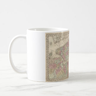 1882 New York & Brooklyn Map Mug
