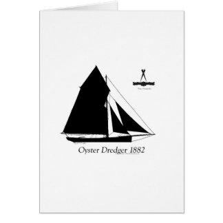 1882 Oyster Dredger - tony fernandes Card