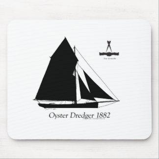 1882 Oyster Dredger - tony fernandes Mouse Pad