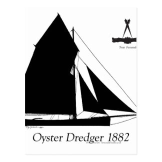 1882 Oyster Dredger - tony fernandes Postcard