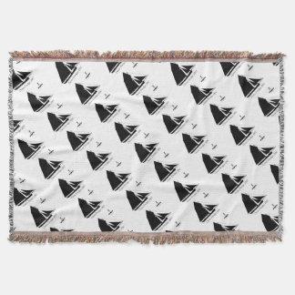 1882 Oyster Dredger - tony fernandes Throw Blanket