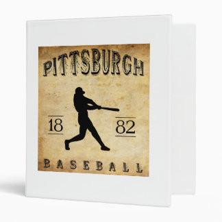 1882 Pittsburgh Pennsylvania Baseball 3 Ring Binder