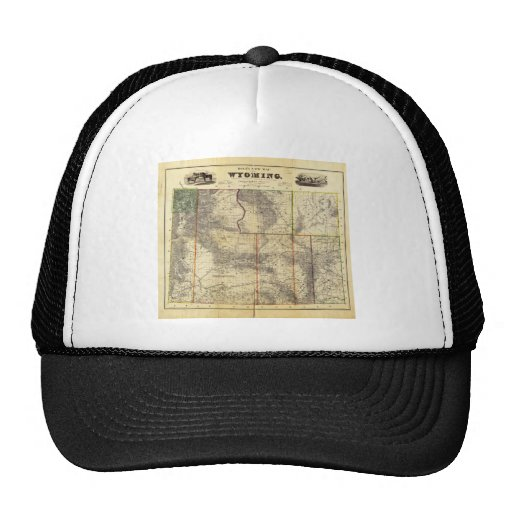 1883 Holt's New Map of Wyoming by Frank Bond Trucker Hat