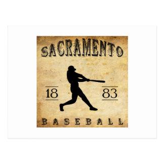 1883 Sacramento California Baseball Postcard